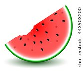 watermelon slice isolated on... | Shutterstock .eps vector #443903200