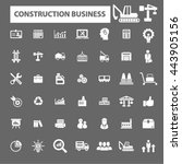 construction business icons | Shutterstock .eps vector #443905156