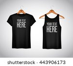 men black tank top and t shirt. ... | Shutterstock .eps vector #443906173
