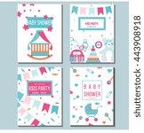 set of vector card templates... | Shutterstock .eps vector #443908918