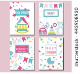 set of vector card templates... | Shutterstock .eps vector #443908930