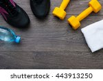 sport. outfit for exercises.... | Shutterstock . vector #443913250