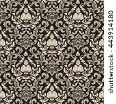 vector damask seamless pattern...   Shutterstock .eps vector #443914180