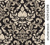 vector damask seamless pattern... | Shutterstock .eps vector #443914198