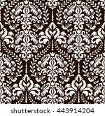 vector damask seamless pattern... | Shutterstock .eps vector #443914204