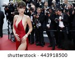 cannes  france   may 18  model... | Shutterstock . vector #443918500