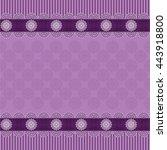 seamless purple ornate...   Shutterstock .eps vector #443918800