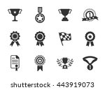 winner icons  | Shutterstock .eps vector #443919073