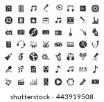 music icons set | Shutterstock .eps vector #443919508
