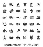shipping icons set | Shutterstock .eps vector #443919604