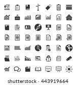 information icons set | Shutterstock .eps vector #443919664