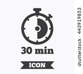 timer sign icon. 30 minutes... | Shutterstock .eps vector #443919853