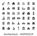 building icons set | Shutterstock .eps vector #443920219