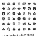 banking icons set | Shutterstock .eps vector #443920234