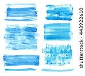 watercolor hand painting... | Shutterstock .eps vector #443922610