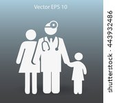 family practice vector... | Shutterstock .eps vector #443932486