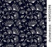 seamless raster floral pattern. ... | Shutterstock . vector #443933398