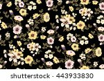 trendy seamless floral ditsy... | Shutterstock .eps vector #443933830