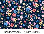 trendy seamless floral ditsy... | Shutterstock .eps vector #443933848