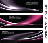 abstract shiny banners. pink... | Shutterstock .eps vector #443933938