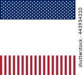 usa patriotic frame with empty... | Shutterstock .eps vector #443934310