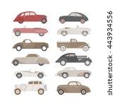 Retro Cars Icons Set Vintage...