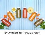 detox drinks on wooden... | Shutterstock . vector #443937094