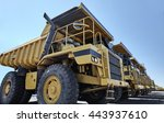 heavy equipment row industrial... | Shutterstock . vector #443937610