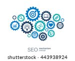 seo mechanism concept. abstract ... | Shutterstock .eps vector #443938924