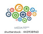 media mechanism concept. growth ... | Shutterstock .eps vector #443938960