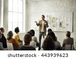 conference office worker... | Shutterstock . vector #443939623