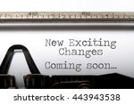 exciting changes coming soon... | Shutterstock . vector #443943538