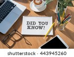did you know   open book on... | Shutterstock . vector #443945260