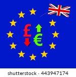 british pound falls against... | Shutterstock . vector #443947174