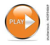 play button isolated.   Shutterstock . vector #443954869