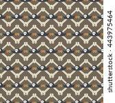 pirates seamless pattern vector ... | Shutterstock .eps vector #443975464