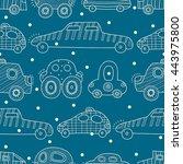 cartoon funny cars. seamless... | Shutterstock .eps vector #443975800