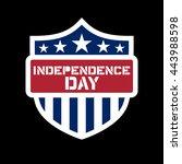 american flag element  symbol... | Shutterstock .eps vector #443988598