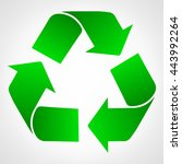 green recycle raster... | Shutterstock . vector #443992264