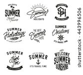 summer holidays design elements ... | Shutterstock .eps vector #443996506