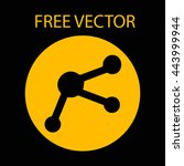 free vector style flat molecule | Shutterstock .eps vector #443999944
