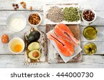 healthy food  best sources of... | Shutterstock . vector #444000730