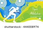 runner athlete sprint sport... | Shutterstock .eps vector #444008974