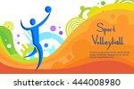 volleyball athlete sport game...   Shutterstock .eps vector #444008980