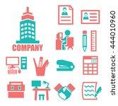 company icon set   Shutterstock .eps vector #444010960