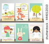 colorful collection for banners ... | Shutterstock .eps vector #444012010