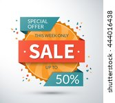 sale banner. special offer... | Shutterstock .eps vector #444016438