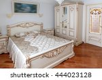 detail of the bedroom. bed and... | Shutterstock . vector #444023128