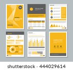 yellow page business company... | Shutterstock .eps vector #444029614