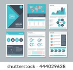 company profile and annual... | Shutterstock .eps vector #444029638